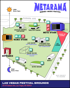 Metarama Festival Map